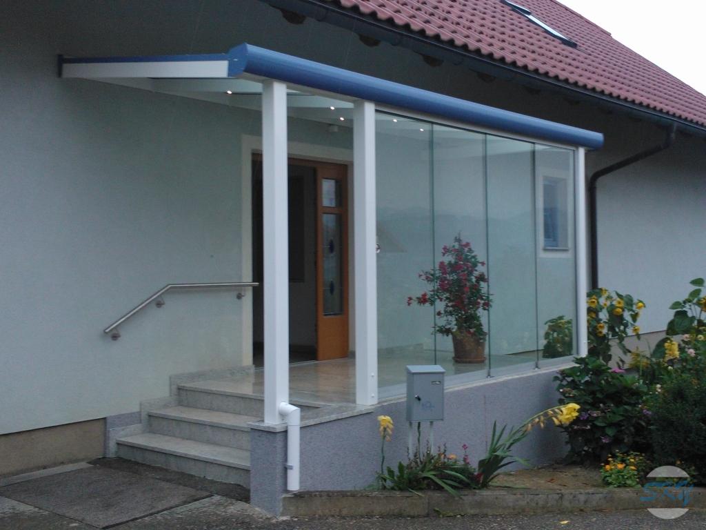 Eingangsüberdachung eingangsüberdachungen sky aluminiumsysteme lamellendächer
