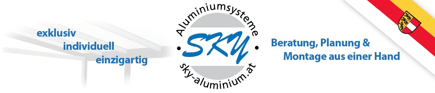 SKY Aluminiumsysteme - Lamellendächer, Terrassendächer, Carports uvm. Logo