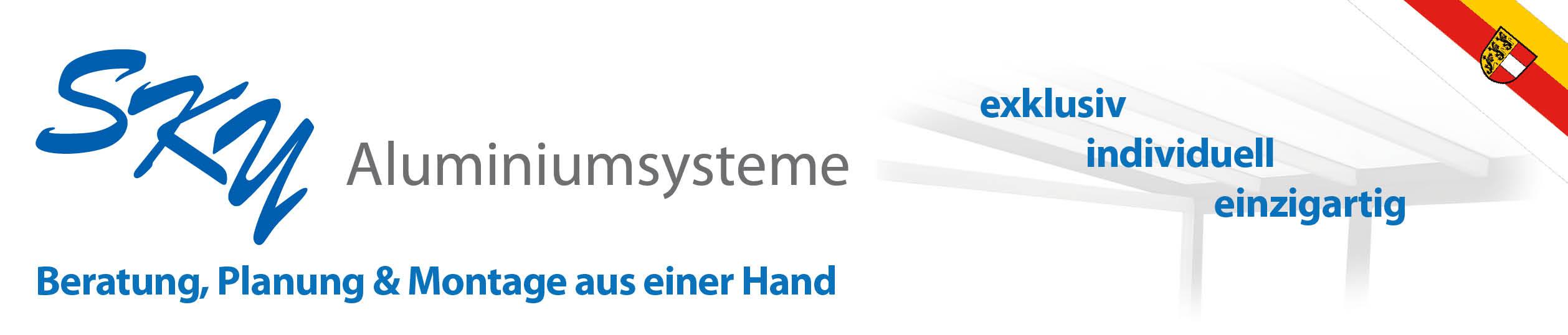SKY Aluminiumsysteme - Terrassendächer, Schiebedächer, Carports uvm. Logo
